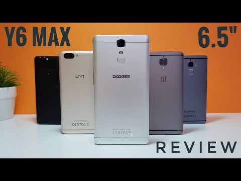 "Doogee Y6 MAX REVIEW - is this a Phone or a Tablet?! 6.5"" Screen!"
