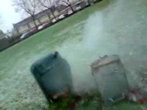 Prullenbak ontploft in Cuijk