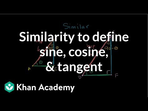 Triangle similarity & the trigonometric ratios (video