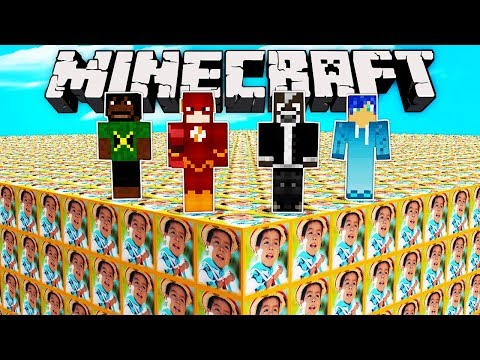 LUCKY BLOCKS MOVIMIENTO NARANJA vs 4 YOUTUBERS 😂🍊 ¿QUIÉN GANARÁ? | MINECRAFT MODS
