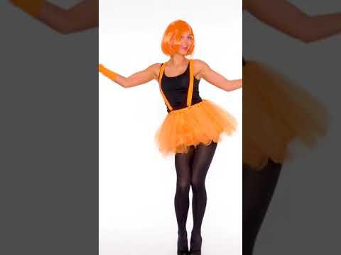 Tutu Tüllrock mit Hosenträger orange | dressforfun