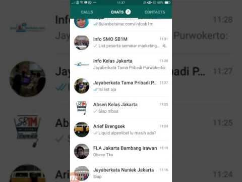 Video Cara invite kontak ke grup whatsapp