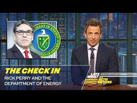 The Check In: Rick Perry and the Department of Energy