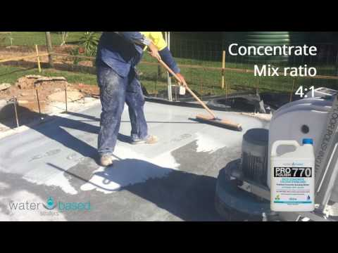 Polished Concrete Grouting Process using WBS Pro Polish 770