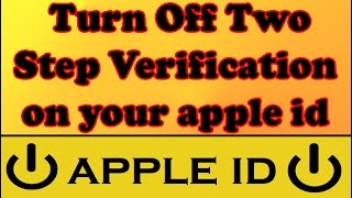 how to off two factor authentication in iphone hindi - Thủ