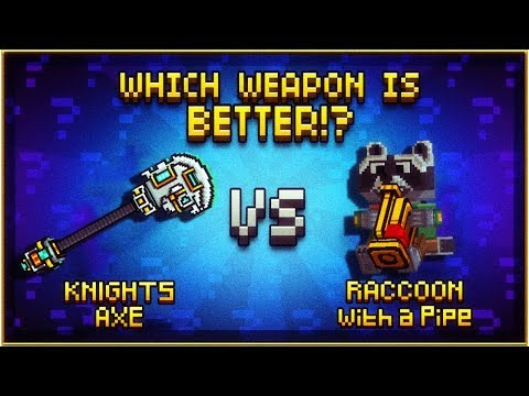KNIGHTS AXE VS Raccoon with a Pipe - Pixel Gun 3D