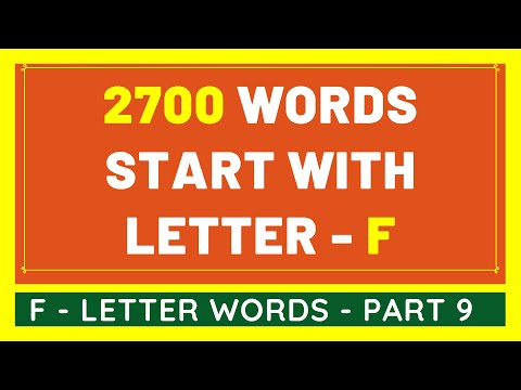 2700 Words That Start With F #9 | List of 2700 Words Beginning With F Letter [VIDEO]
