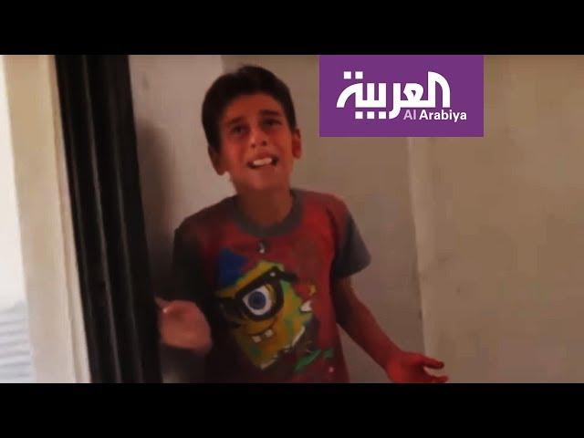طفل سوري يصرخ بحرقة بعد غارة للنظام.. أمات أبي؟