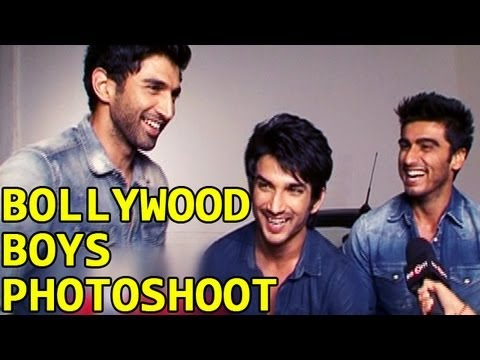 Sushant, Aditya and Arjun shoot together for a magazine cover (видео)