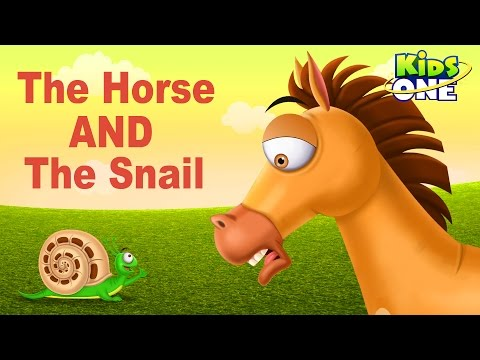 The Horse and The Snail | Funny Short Story For Kids