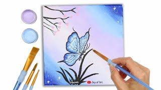 How to Paint Butterfly Easy Acrylic Painting for Beginners | Joy of Art