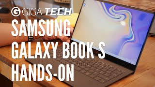 SAMSUNG GALAXY BOOK S HANDS-ON (deutsch): Laptop ohne Intel? Kein Problem! – GIGA.DE