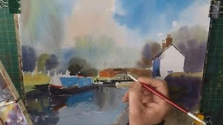 Boats and Cottages in Watercolour