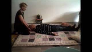 Quelques manœuvres du Shiatsu : rotations, vibrations, étirements, palpations avec les paumes et pou
