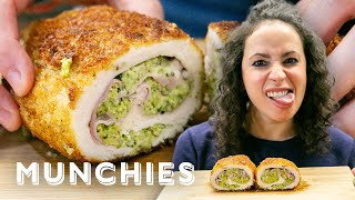 Cheesy Broccoli-Stuffed Chicken - The Cooking Show with Farideh