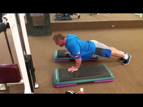 Dip and Stretch Pushup Superset