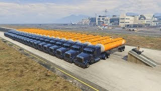 CAN THE NEW QUAD JUMP ABOVE 20 TANK TRUCKS IN GTA 5 ?
