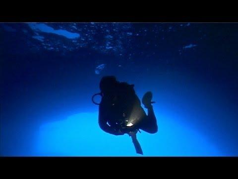 Geheimnisvolles Mittelmeer part.1, Dwejra Point, Coral Cave, Gozo/Malta, (Yellow Seahorse), Dwejra Caves Gozo,Malta