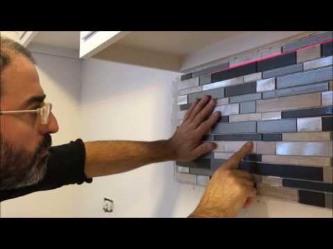 How to Install a Glass Tile Backsplash   /   Resourceful
