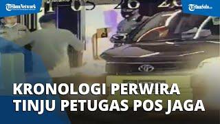 Video Perwira Polisi Tinju Petugas Pos Jaga Polda Riau, Berawal dari Pukul Tiang Portal