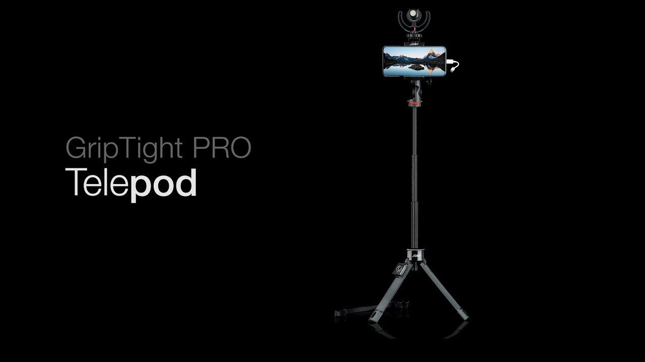 מוט סלפי וחצובה שולחנית Joby GripTight PRO TelePod