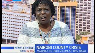 Nairobi county assembly set to hold special sitting today to deliberate on Kananu's appointment