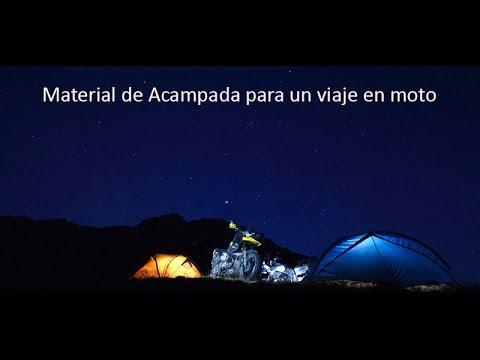 Equipaje para viajar en moto # Material de Acampada #