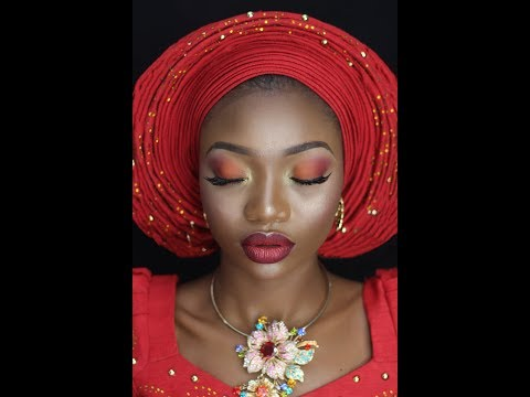 HOW TO TIE NIGERIAN  BRIDAL ROUND GELE | SIMPLE ROUND GELE | EASY TO TIE | LOLADE_MLPRO