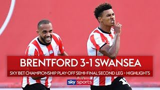 SUBSCRIBE ► http://bit.ly/SSFootballSub PREMIER LEAGUE HIGHLIGHTS ► http://bit.ly/SkySportsPLHighlights Highlights from the Championship play-offs as Brentford pulled off a brilliant second-leg comeback against Swansea in the final game at Griffin Park to reach Wembley.  Watch Premier League LIVE on Sky Sports here ► http://bit.ly/WatchSkyPL ►TWITTER: https://twitter.com/skysportsfootball ►FACEBOOK: http://www.facebook.com/skysports ►WEBSITE: http://www.skysports.com/football  MORE FROM SKY SPORTS ON YOUTUBE: ►SKY SPORTS CRICKET: https://bit.ly/SubscribeSkyCricket ►SKY SPORTS BOXING: http://bit.ly/SSBoxingSub ►SOCCER AM: http://bit.ly/SoccerAMSub ►SKY SPORTS F1: http://bit.ly/SubscribeSkyF1