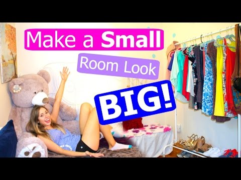 10 TIPS + Lifehacks to Make Your Room Look Bigger!