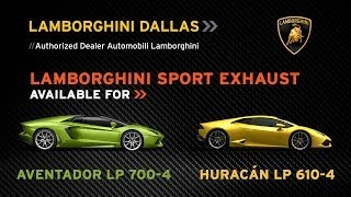 Sport Exhaust for Aventador and Huracán at Lamborghini Dallas Parts