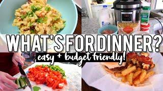 NEW! WHAT'S FOR DINNER   EASY + BUDGET FRIENDLY DINNER IDEAS