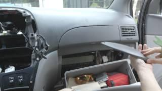 Eonon C1301U, GPS, Ipod, DVD player, USB DualDin Radio Installation Toyota Sienna 2009