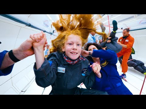 Disabled Kids Enjoy Zero Gravity