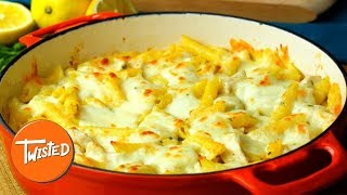 Creamy Lemon Chicken Pasta Bake Recipe | Twisted