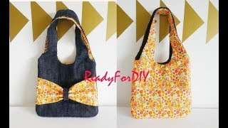DIY Reversible Purse Bag Using Old Jeans | Jeans Purse Bag