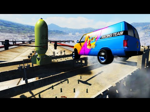 BeamNG Drive - EXPERIMENT - Cars vs Nuclear Bombs #9