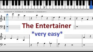 The Entertainer: Easy Piano Version For Beginners (Sheet Music)