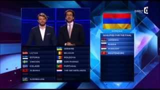 "Eurovision 2014 1st Semi-final results + ARAM MP3's performance [ Armenia ] ""Not Alone"""