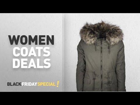 Black Friday Women Coats Deals: ONLY Women's Onlmacy Canvas Jacket Cc Otw Parka
