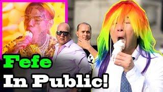 """6IX9INE (Tekashi69), Nicki Minaj - """"FEFE"""" - SINGING IN PUBLIC!!"""