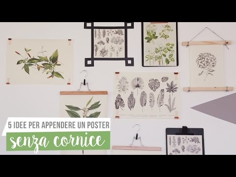 Come appendere un poster senza cornice | Westwing