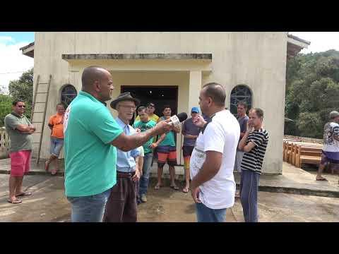 Moradores fazem a reforma e limpeza da Capela de Santo Antônio do Bairro dos Ritas.