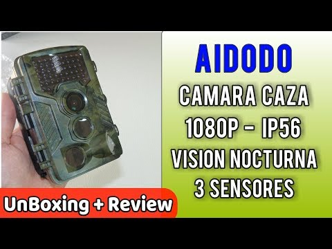 Aidodo Cámara de Caza  Fotografica 1080P HD 16 MP Impermeable IP56 | UnBoxing Review en Español