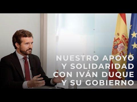 Nuestro apoyo y solidaridad con Iván Duque y su Go...