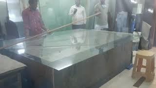 Cutting Glass 6mm-thickness,,size-8*4.  Criystal Enterprises-Glass dealer puducherry.