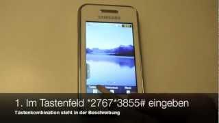 Samsung GT-S 5230 alle Daten löschen und auf Werkseinstellungen zurücksetzen