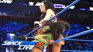 The Glowing Superstar aims to finally put The IIonics in their place with another one-one-one showdown against Peyton Royce.  #SDLive  GET YOUR 1st MONTH of WWE NETWORK for FREE: http://wwenetwork.com --------------------------------------------------------------------- Follow WWE on YouTube for more exciting action! --------------------------------------------------------------------- Subscribe to WWE on YouTube: http://bit.ly/1i64OdT Check out WWE.com for news and updates: http://goo.gl/akf0J4 Find the latest Superstar gear at WWEShop: http://shop.wwe.com --------------------------------------------- Check out our other channels! --------------------------------------------- The Bella Twins: https://www.youtube.com/thebellatwins UpUpDownDown: https://www.youtube.com/upupdowndown WWEMusic: https://www.youtube.com/wwemusic Total Divas: https://www.youtube.com/wwetotaldivas ------------------------------------ WWE on Social Media ------------------------------------ Twitter: https://twitter.com/wwe Facebook: https://www.facebook.com/wwe Instagram: https://www.instagram.com/wwe/ Reddit: https://www.reddit.com/user/RealWWE Giphy: https://giphy.com/wwe