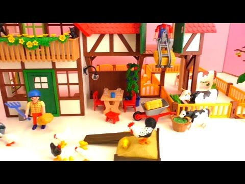 Construyendo la super granja de Playmobil