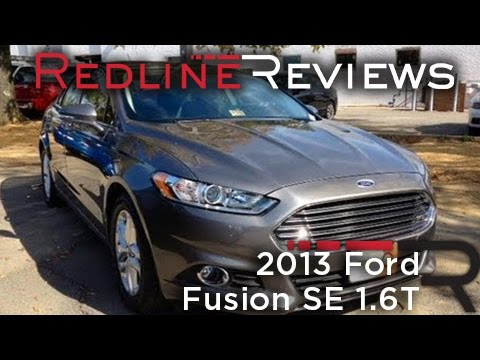 2013 Ford Fusion SE 1.6T Review, Walkaround, Exhaust, Test Drive